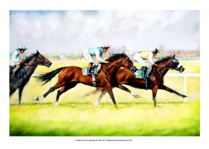 Frankel and Tom Queally race in the 2012 Juddmonte