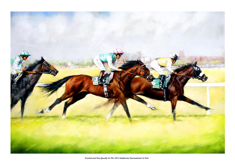 Sample picture of Frankel in the 2012 Juddmonte at York by Brian Halton